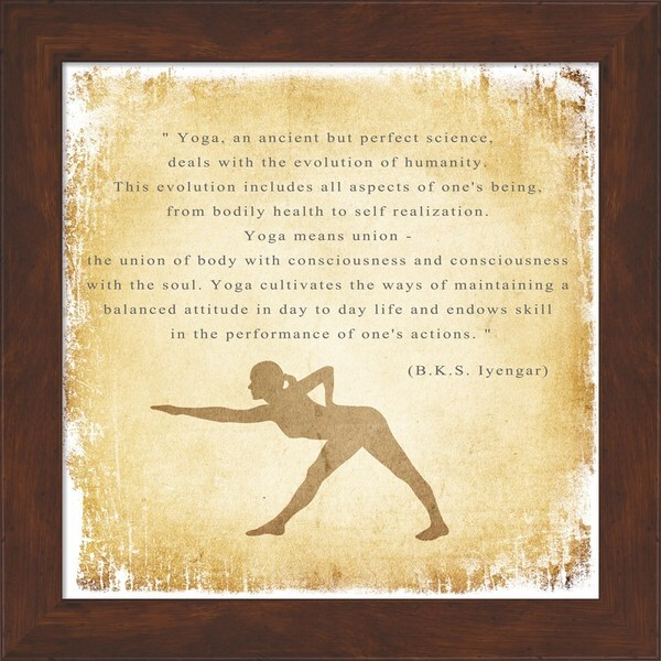 'Yoga is a Perfect Science' Framed Art