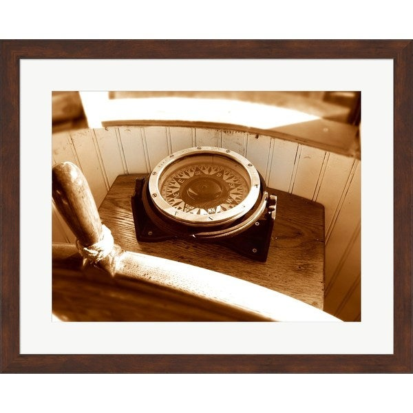 'Classic Nautical Compass' Framed Art