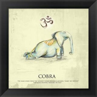 'Elephant Yoga, Cobra Pose' Framed Art