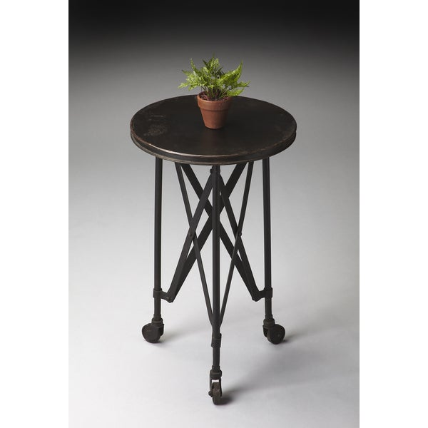Black Industrial Side Table
