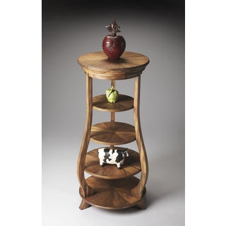 Acacia Wood Grain Display Tower