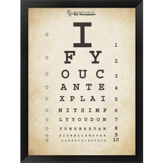 Unknown 'Einstein Eye Chart II' Framed Art