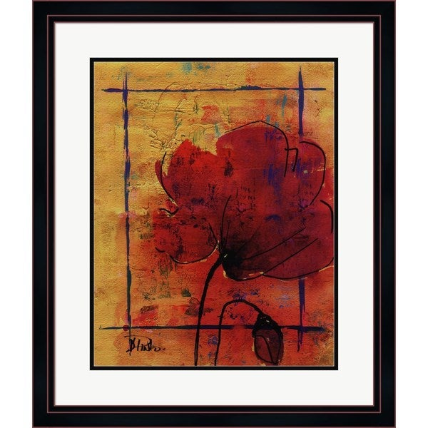 Patricia Pinto 'Artistic Poppy II' Framed Art