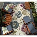 Dolce Tivoli/ Ivory-Multi Power Loomed Area Rug (5'3 x 7'6)