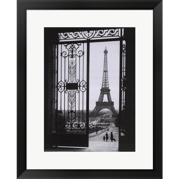 Sally Gall 'The Eiffel Tower from the Trocadero' Framed Art