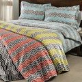 Strada Ikat 300 Thread Count 3-piece Duvet Cover Set