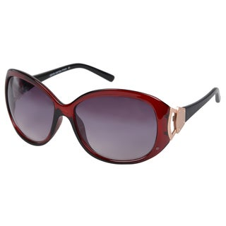 Journee Collection Women's Oversized Red Fashion Sunglasses