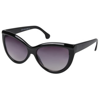 Journee Collection Women's Black Wide Frame Fashion Sunglasses