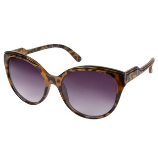 Tortoise Journee Collection Women's Wide Frame Fashion Sunglasses