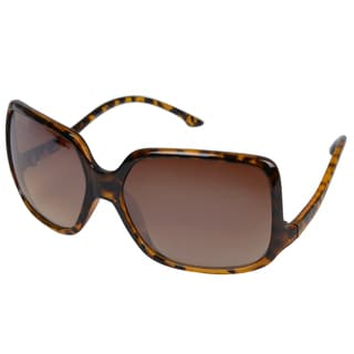 Journee Collection Women's Tortoise Rectanglar Fashion Sunglasses