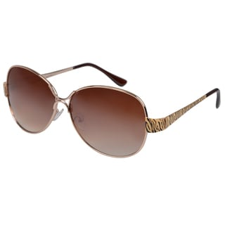 Journee Collection Women's Oversized Gold Fashion Sunglasses