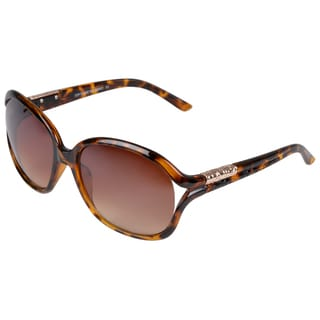 Journee Collection Women's Black/Tortoise Fashion Sunglasses