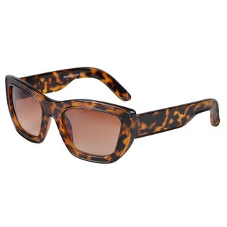 Journee Collection Women's Black-and-Tortoise Wide Frame Fashion Sunglasses