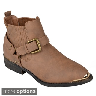 Journee Collection Women's 'Aiberta' Buckle Detail Ankle Boots
