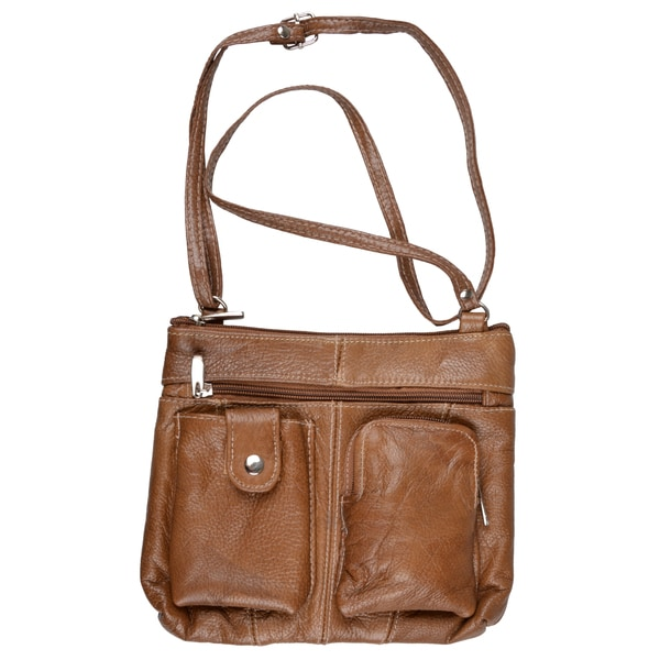 Journee Collection Womens Leather Cross-body Handbag