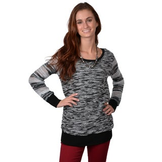 Journee Collection Juniors' Banded Scoop Neck Sweater