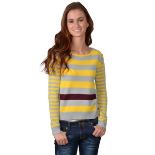 Journee Collection Juniors Striped Cropped Sweater