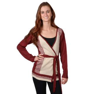 Journee Collection Juniors' Belted Open Front Cardigan