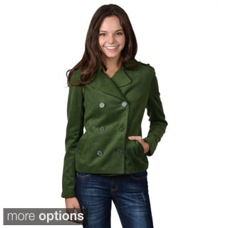 Journee Collection Juniors' Double Breasted Short Jacket
