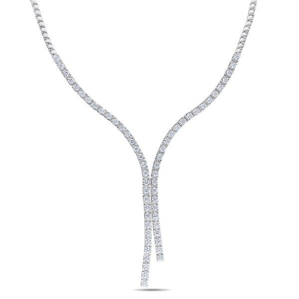 Miadora 14k White Gold 6 1/2ct TDW Diamond Lariat Necklace (G-H, SI1-SI2)