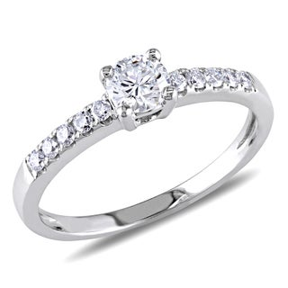 Miadora 14k White Gold 5/8ct TDW Diamond Engagement Ring (G-H, SI1-SI2)