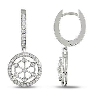 Miadora 18k White Gold 5/8ct TDW Diamond Earrings (G-H, SI1-SI2)