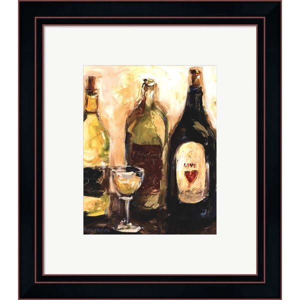 Nicole Etienne 'Glass Of White' Framed Art