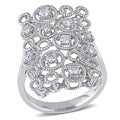 Miadora 14k White Gold 2/5ct TDW Long Fashion Diamond Ring (G-H, SI1-SI2)