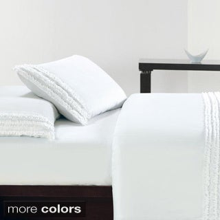 Ultra Soft Double Brushed Microfiber Ruffle Sheet Set
