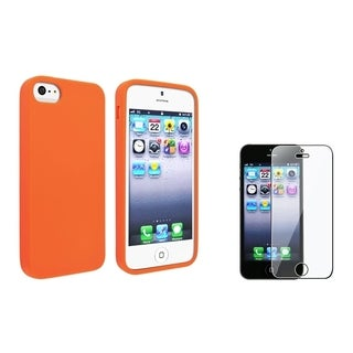BasAcc Orange Skin Case/ Screen Protector for Apple iPhone 5/ 5S