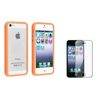 BasAcc Orange Bumper Case/ Screen Protector for Apple iPhone 5/ 5S