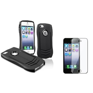 BasAcc Black Lamborghini Case/ LCD Protector for Apple iPhone 5/ 5S