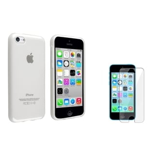 INSTEN Frost Clear TPU Phone Case Cover/ Screen Protector for Apple iPhone 5C