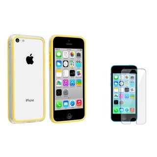 BasAcc Clear/ Yellow TPU Case/ Screen Protector for Apple iPhone 5C