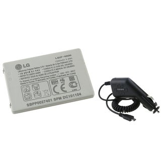 BasAcc Battery/ Car Charger for LG GW820/ GW620