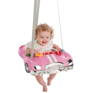 Evenflo Jump Go Baby Exerciser in Pink Racer
