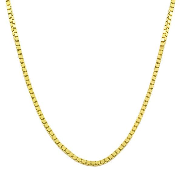 Fremada 14k Yellow or White Gold 1-mm Box Chain
