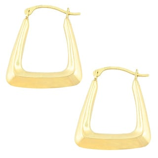 Fremada 10k Yellow Gold Square Hoop Earrings