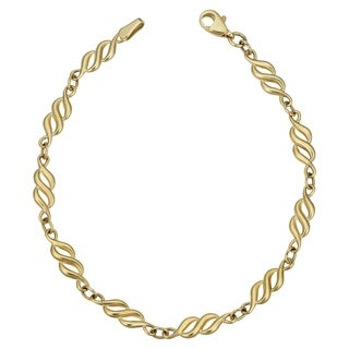 Fremada 10k Yellow Gold '8' Link Bracelet