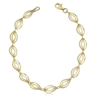 Fremada 10k Yellow Gold Marquise Bracelet