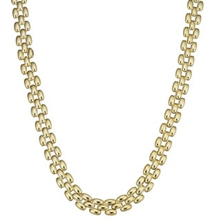 Fremada 10k Yellow Gold Panther Link Necklace