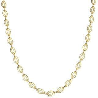 Fremada 10k Yellow Gold Marquise Necklace (18-inch)