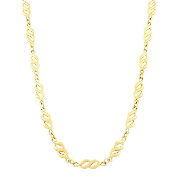 Fremada 10k Yellow Gold '8' Link Necklace (18 inch)