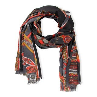 Saachi Women's Medallion Status Print Scarf (China)