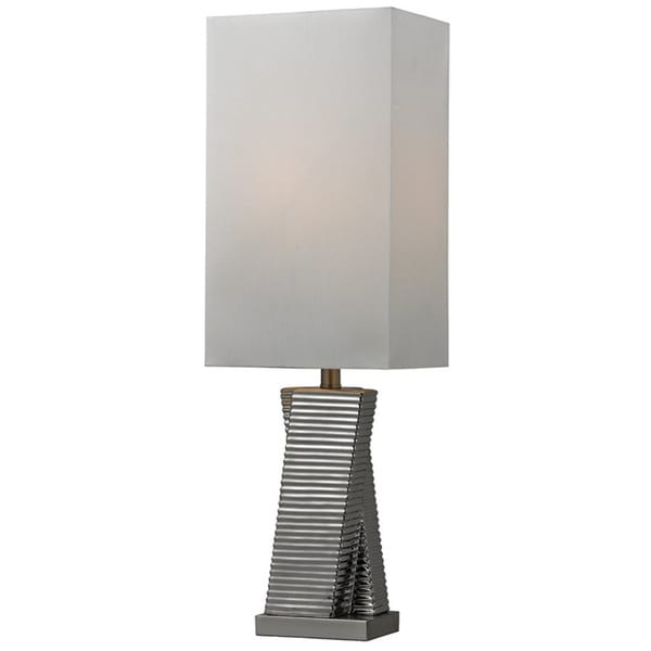 Ceramic 1-light Chrome Plated Table Lamp