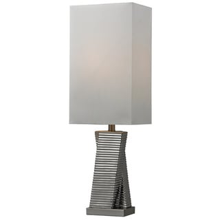 HGTV HOME Ceramic 1-light Chrome Plated Table Lamp