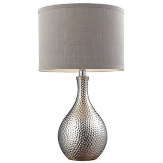HGTV HOME Ceramic 1-light Hammered Chrome-plated Table Lamp