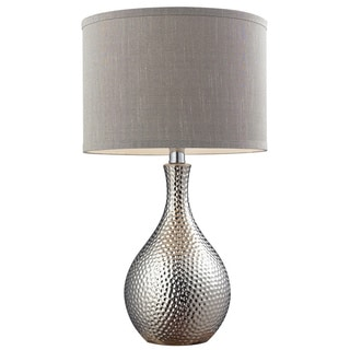 Ceramic 1-light Hammered Chrome-plated Table Lamp