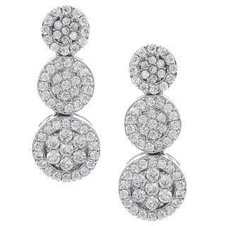 Journee Collection Silver-tone Cubic Zirconia Drop Earrings