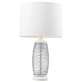 Blown Glass 1-light Clear/ White Table Lamp